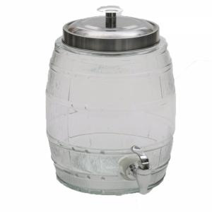 mini barril de vidro para bebidas 5 litros craw