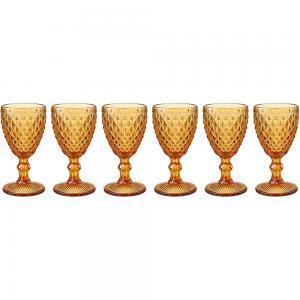 jogo de 6 taças verre ambar para água
