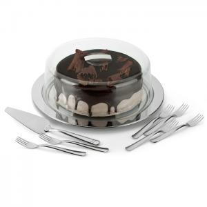 prato bolo gateau c/ pa de bolo e garfos forma