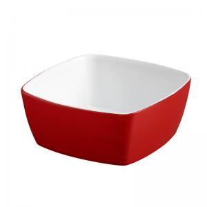 tigela quadrado 12x12 cm vermelho mondoceram
