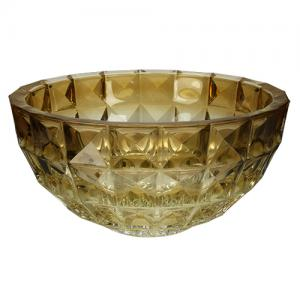 centro mesa cristal diamond ambar bohemia