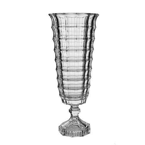 Vaso Square em cristal ecológico com pé 33cm L'HERMITAGEL