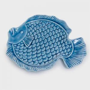 conjunto com 2 pratos peixe craw