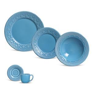aparelho de jantar 20 peças madeleine azul porto brasil