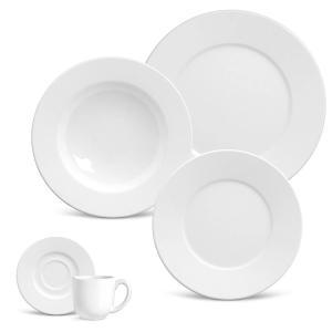 aparelho de jantar 20 peças mônaco branco porto brasil