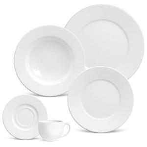 aparelho de jantar 30 peças mônaco branco porto brasil