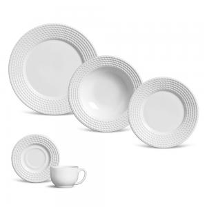 aparelho de jantar 30 peças olimpia branco porto branco