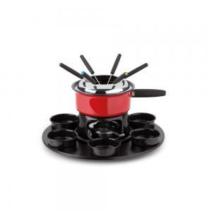 serviço de fondue cervinia vermelho 18 peças