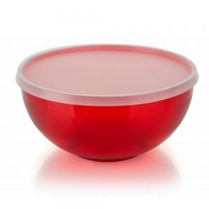 saladeira sfera tampa vermelha 650ml ou