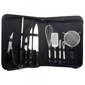 kit para churrasco 10 peças com bolsa fracalanza