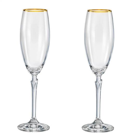 jogo 2 taças champanhe lily celebration 180ml bohemia