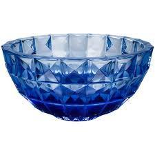 centro de mesa cristal azul diamond
