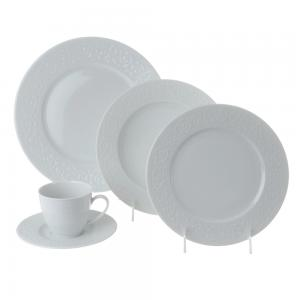 aparelho de jantar e chá porcelana 20 peças arabesque - l'hermitage
