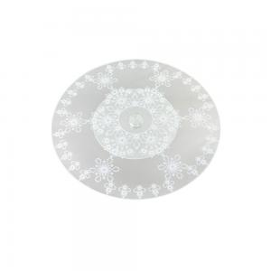 centro de mesa giratório rend em vidro - 45cm