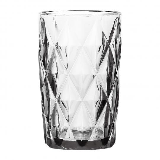 jogo 6 copos diamond transparente 350ml