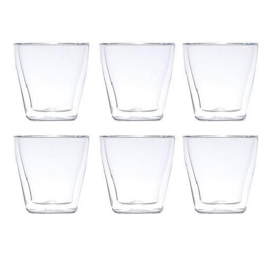 jogo 6 copos vidro dpl borosilicato 250ml
