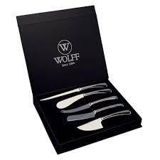 estojo com 5 facas queijo wolff
