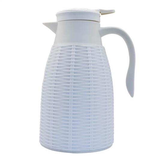 garrafa térmica rattan branca 1l dynasty