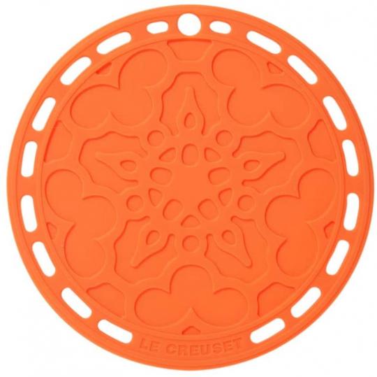 suporte silicone laranja le creuset