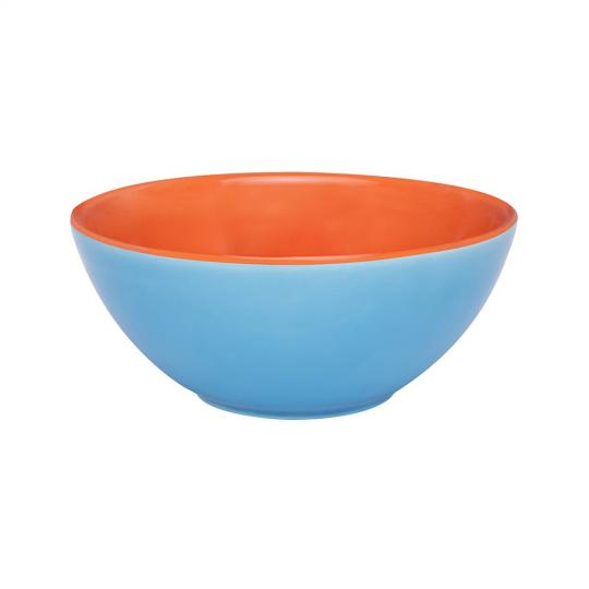 bowl 600ml azul/laranja oxford