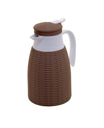 garrafa térmica  rattan plastica marrom 1l lyor