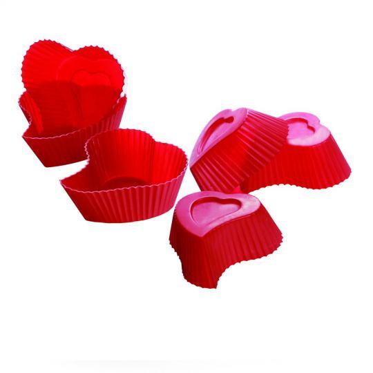 forma para muffin com 06 peças em formato de coração