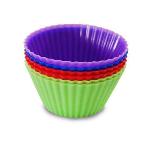 jogo com 6 formas de silicone para muffin ke home