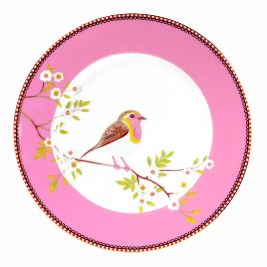 prato de sobremesa early bird rosa unitario pip studio