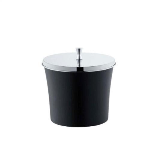 lixeira preta 3 litros clássica forma inox