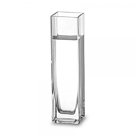 vaso quadrado transparente luvidarte /: