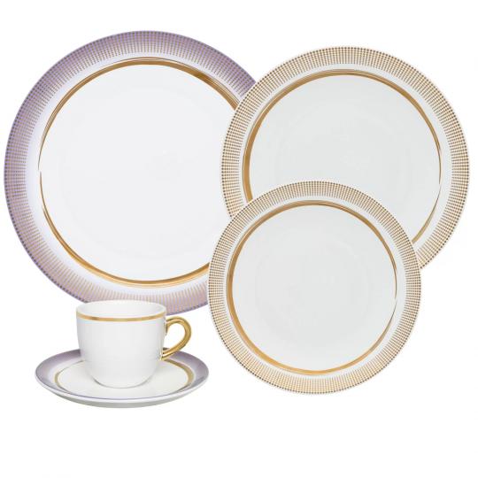 aparelho de jantar e chá glam 30pçs oxford