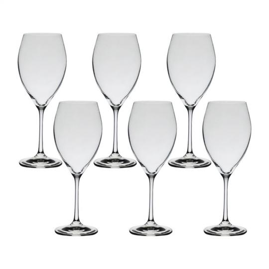 jogo 6 taças vinho tinto em cristal sophia 490 ml