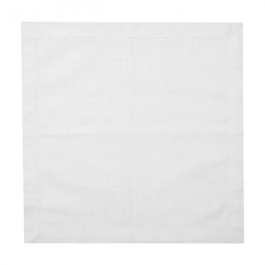 jogo de 6 guardanapo algodão luxo branco 40x40 cm bon gourmet