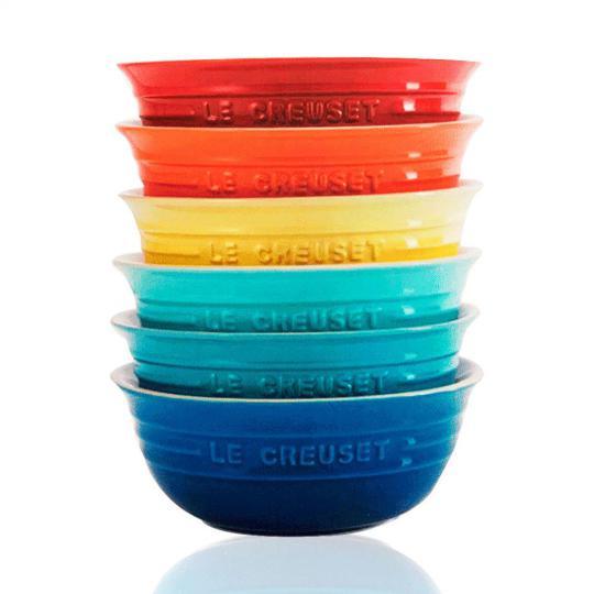 jogo 6 bowls color 500ml le creuset