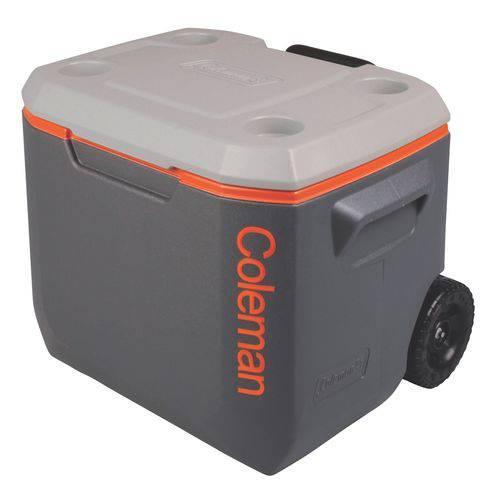 caixa térmica xtreme cinza rodas 50 qt 47l invicta