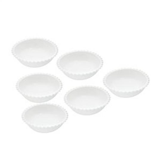 jogo de 6 bowls em porcelana branca 13cm bon gourmet