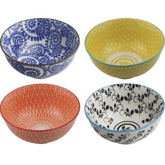 conjunto bowl 4 peças 12x7cm