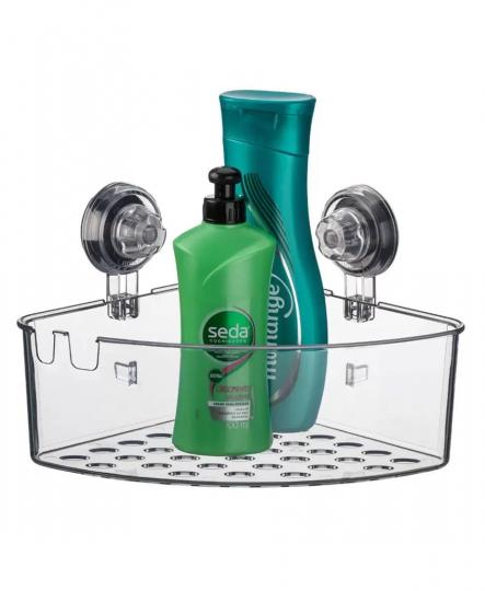 cantoneira para shampoo transparente