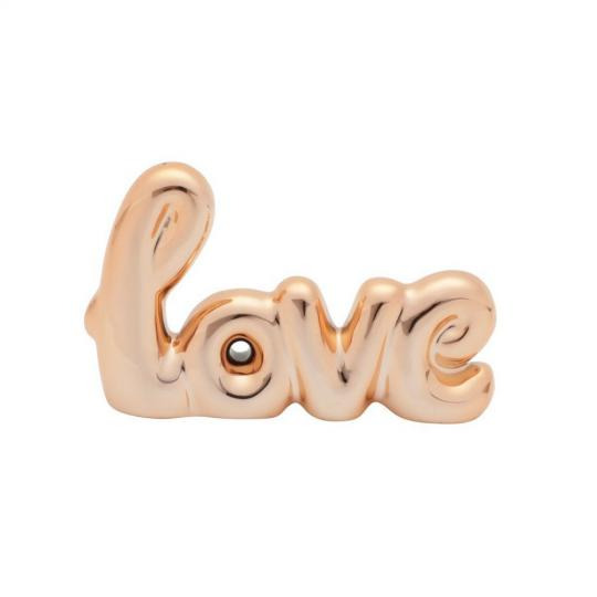 LETRAS DECORATIVAS LOVE DOURADO 12x8
