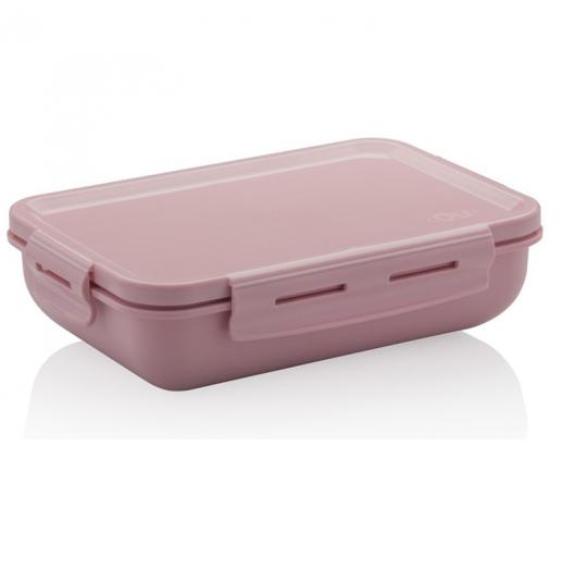 marmita hermetica retangular rosa ou