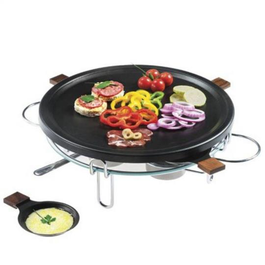raclette grill 9 peças 37cm preto forma
