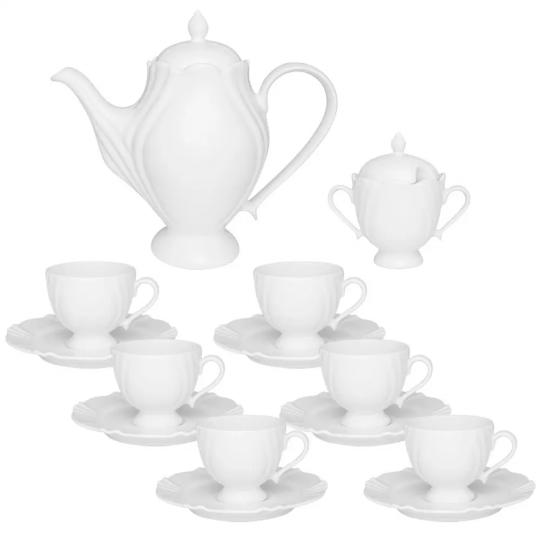 conjunto de café 14 peças soleil white oxford