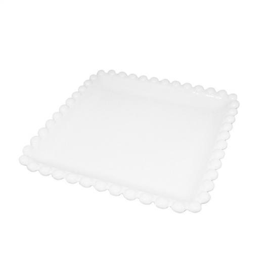 petisqueira quadrada em porcelana branca 26cm bon gourmet