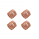 jogo de 4 porta guardanapos espiral cobre lyor